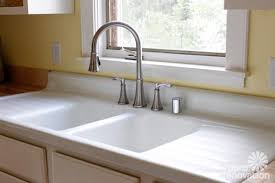 Kitchen Sinks With Drainboard Built In by Kitchen Cute Farmhouse Kitchen Sinks With Drainboard Sink