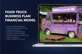 100 Food Truck Sales Business Plan Financial Model Excel Template ONLY 25 For