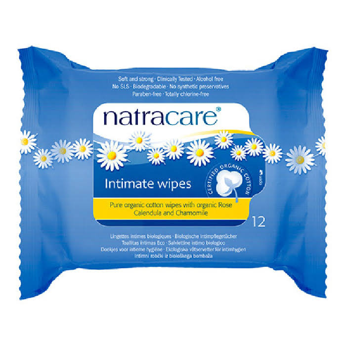 Natracare Organic Intimate Wipes - 12 Pack