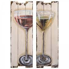 aperitif gläser holz wandbilder 2er wand dekoration küche esszimmer wohnzimmer