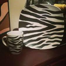 Zebra Print Dish And Mug Set Of 4 By Sassygrldecor On Etsy 4500