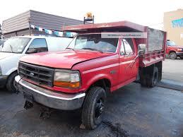 100 Pickup Truck Dump Bed 1997 Ford F350 4x4 W Western Snow Plow