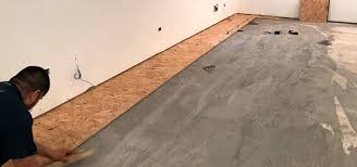 How To Install Plywood Subfloor On Concrete Slab Basement Options Versus Installing Over