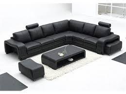 canapé angle en cuir grand canapé d angle en cuir pleine fleur fabio option lit convertib