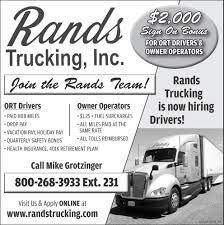 Company Drivers / Owner Operators, Rands Trucking, Inc, Medford, WI Trucking Companies Hiring Owner Operators Blue Collar Jobs Company Flyer Design For A By Hollyblue Studio Mesa Moving Storage Home Olander Operator Employment Driver Vecto North Carolina Cdl Local Truck Driving In Nc Drivers Wanted Best Image Kusaboshicom Free Schools Goto Transport Is Ownoperators Otr Job Rands Inc Medford Wi