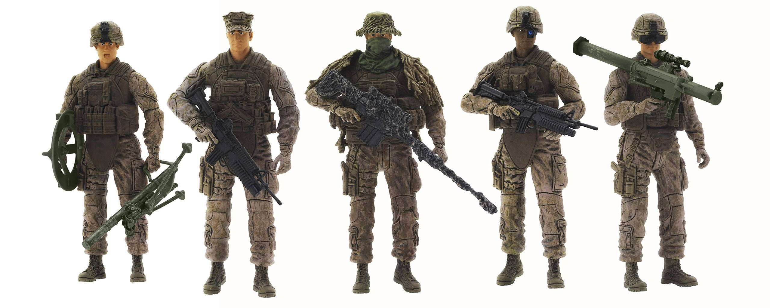 Elite Force Marine Action Figures 5 Pack