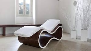 Furniture: Vintage Indoor Chaise Lounge Chair With White ...