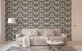 tapete im paravent stil und asiatischem design grau schwarz weiß