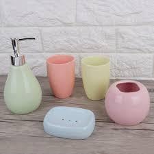 sets bad accessoires set aus keramik bunt badezimmer zubehör