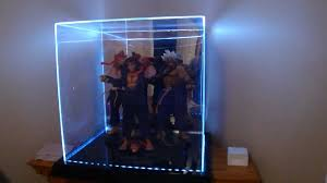 Large Acrylic 4 Color LED Light Display Case By Maybangs Collectibles