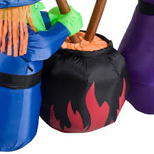 Halloween Yard Inflatables by 6ft Halloween Inflatable Airblown Bubble Witches W Cauldron