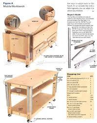 21 original mobile woodworking bench plans egorlin com