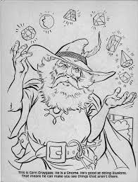 Advanced Dungeons Dragons Characters Coloring Book 1983 Part
