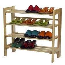 elegant simple diy shoe rack nice simple wooden shoe rack 4 tier