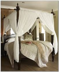 Queen Canopy Bed Curtains by Four Post Bed Curtains Home Design