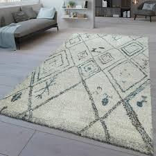 moderner kurzflor teppich ethno design wohnzimmer abstrakt