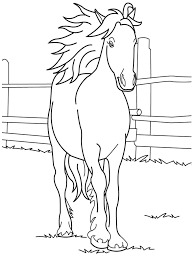 Free Printable Horse Coloring Pages Kids Horses Jumping Mustang Rocking