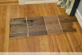 Removing Old Pet Stains From Wood Floors by Testing Stain Colors For My Red Oak Hardwood Floor