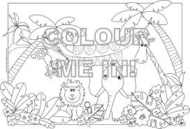 Realistic Jungle Animal Coloring Pages At Free Printable