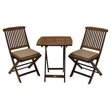 Details About Outdoor Furniture Set Patio Deck Garden Bistro Wood Folding  Table Cushion Chairs