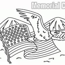United State Flag On Memorial Day Coloring Page