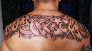Brilliant Old English Wording Tattoo