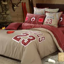 simple basketball bedroom set with chicago bulls bedding set feat