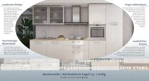 küchenzeile küchenblock fagali 31 7 teilig farbe creme hochglanz