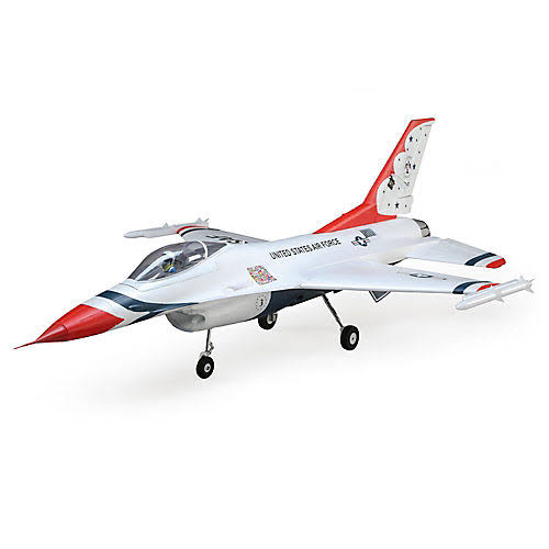 E-Flite F-16 Thunderbird 70mm EDF BNF Basic - With AS3 And Safe Select, 1:6 Scale