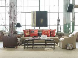 Living RoomRed Sofa Room Ideas Rustic Industrial Interior Design Also With Pretty Photo