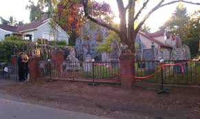 Halloween Graveyard Fence by Milwaukie U0027s Spooky Landmark Brings Together Community During