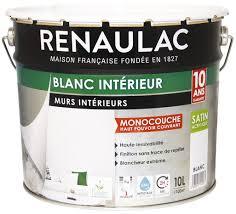 blanche mate pour murs et plafonds 10 l renaulac brico dépôt
