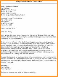 general cover letters for employment