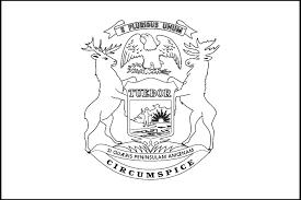 1439x960 Michigan State Flag