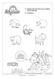 Animales Salvajes De La Selva 1 Animales Páginas Para Colorear