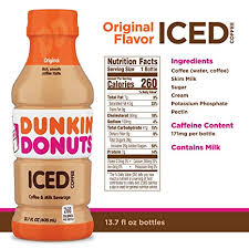 Dunkin Donuts Original Iced Coffee Bottle 137 Fl Oz Amazon Grocery Gourmet Food
