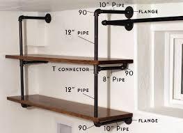 Secret Shelves Amazing How To Make Pipe Uk Galvanized Industrial Plumbing Steel Copper