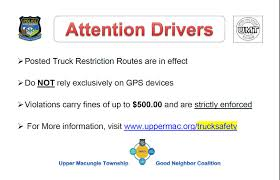 Good Neighbor Coalition (Truck Safety) | Upper Macungie Township Beach Camera Garmin Drivesmart 61 Na Lmts Advanced Navigation Gps Amazoncom Tom Trucker 600 Device For Truckmap Truck Routes Trelnavigatnappsios Cool Rand Mcnally And Routing Commercial Trucking How To Use Google Maps For Best Resource Free Gps Dezlcam Lmthd 6inch Navigator Cell Phones Live Tracking System Us Fleet Garbage Route Bin Weighing Youtube New Magellan Helps Truckers Plan Drive New 00185813 Tft 5 Display Dezl 580 Lmtd