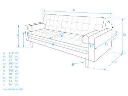 hauteur assise canapé canapé convertible clic clac capitonné en tissu beige avec pied