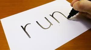 Very Easy How To Turn Words RUN Into A Cartoon