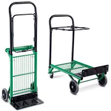 Goplus Folding Hand Truck 2 In 1 Multi-Functional Dolly Gardening ...