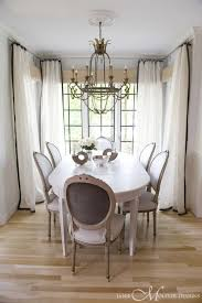 White Curtains With Dark Border French Dining Room Janie Molster Design Indoors