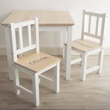 Personalised Wooden Table And Chairs Set