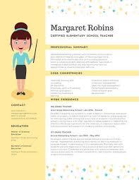 Yellow Confetti Teacher Creative Resume