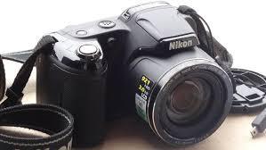 Camera Nikon Coolpix L810 vis£o superficial