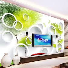 Custom 3D Wall Murals Wallpaper Modern Abstract Circles Tree TV Background Painting Living Room Bedroom