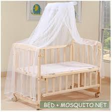 Wood Baby Cradle Rocking Crib Bassinet Bed Sleeper Portable