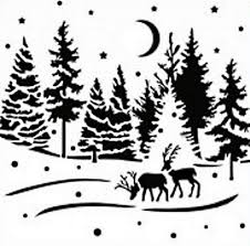 Christmas Tree Amazon Uk by Imagination Crafts Stencil Template 6