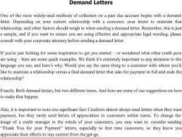 Demand Letter Sample Templates&Forms Pinterest
