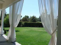 Mosquito Netting Curtains for the deck condo ideas